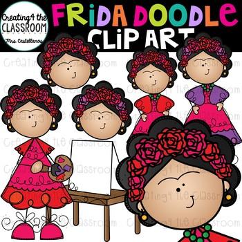 Frida Doodle Clip Art {Frida Kahlo Clip Art}.