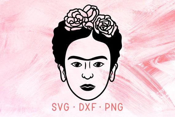 Frida SVG DXF PNG, Frida Kahlo Svg Files For Cricut, Frida Kahlo Clipart,  Frida Shirt Design, Cute Girl Face Silhouette, Feminist Cut File.