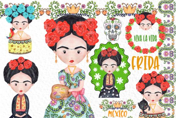 Frida Kahlo clipart Mexican clipart.