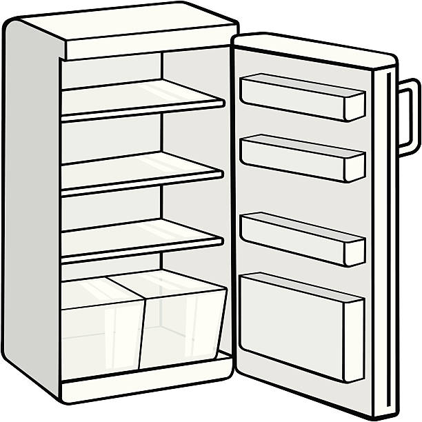 fridge Refrigerator clipart black and white collection jpg.