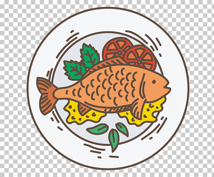 Fried fish Fish fry Roasting, a braised fish PNG clipart.