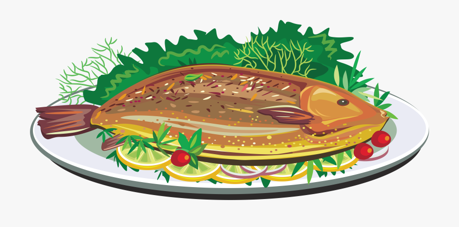 Fried Fish Dish Clip Art.