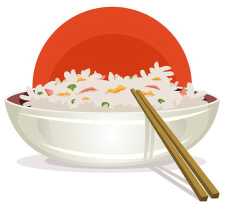 1,198 Fried Rice Stock Vector Illustration And Royalty Free Fried.