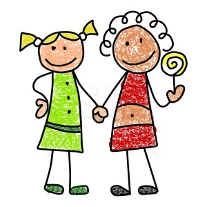 friends holding hands clipart.