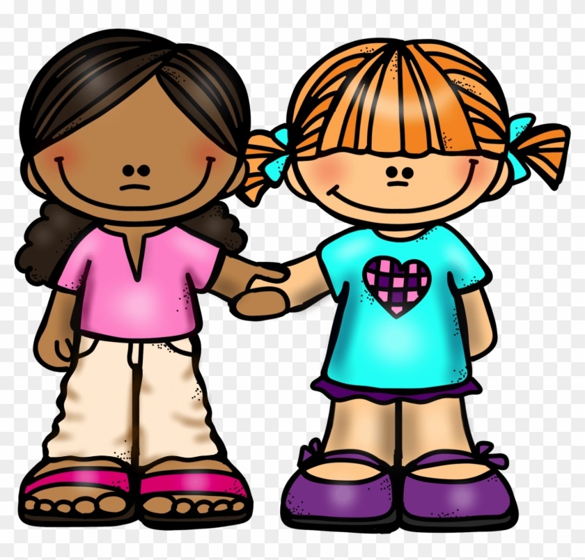Girl Friends Holding Hands.