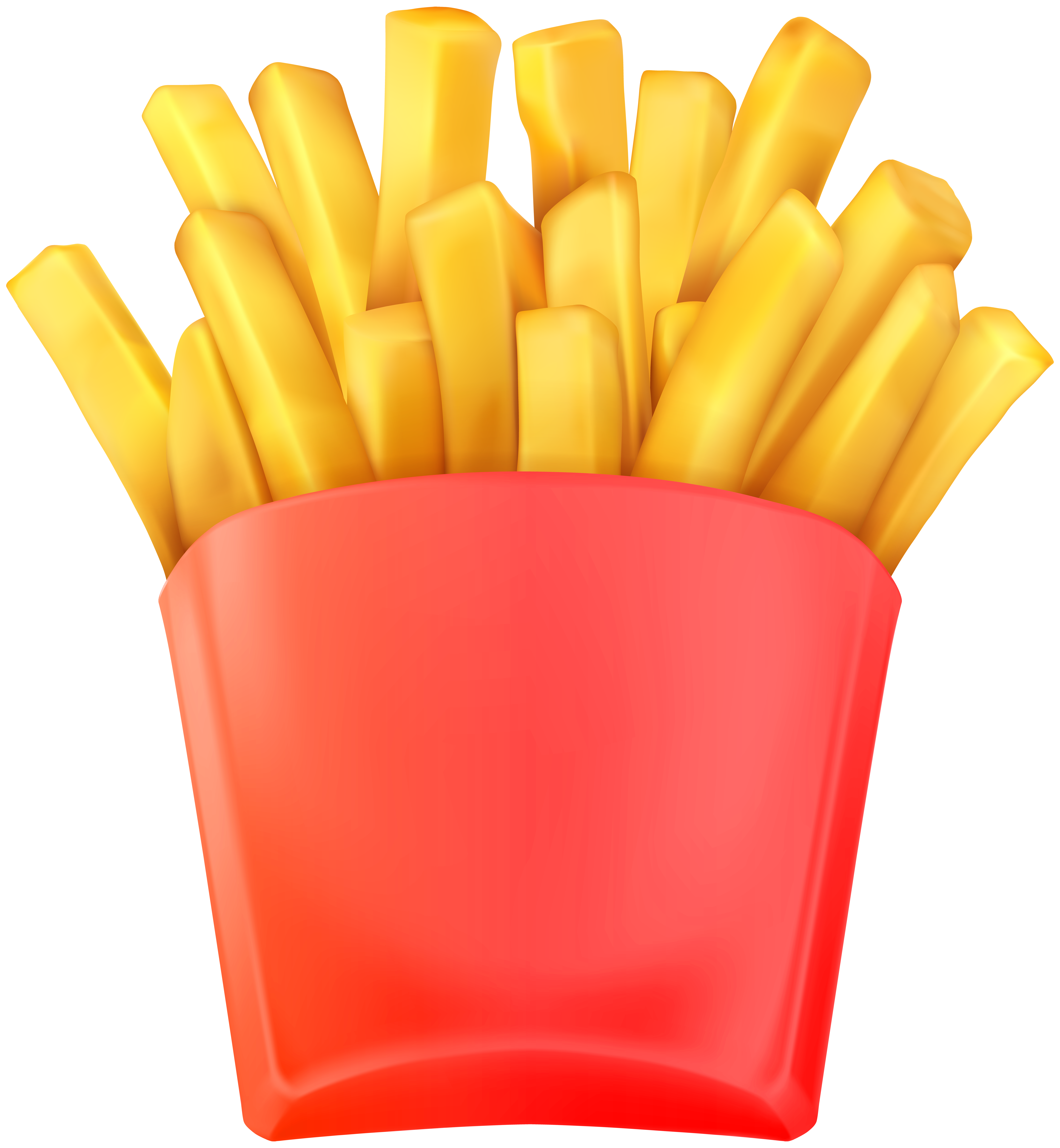 French Fries Transparent Clip Art PNG Image.
