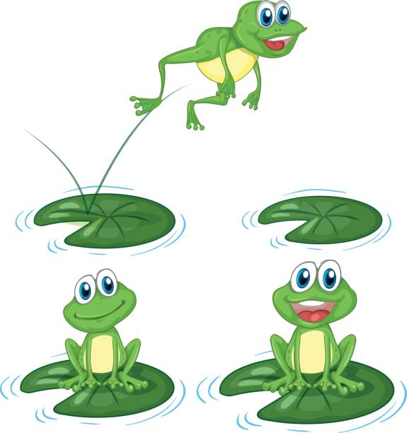 Best Silhouette Of Frogs And Lily Pads Illustrations, Royalty.