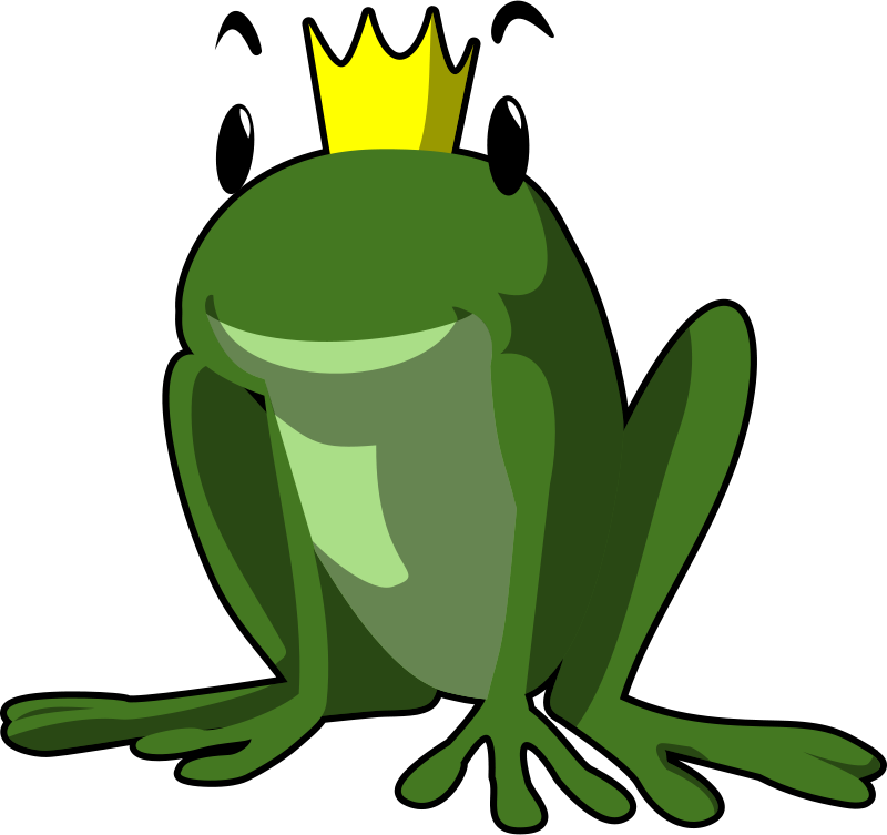 Free Clipart: Frog prince.