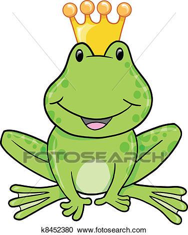 Frog Prince Vector Illustration Clipart.