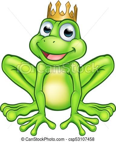 Cartoon Frog Prince.