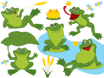 Frogs Clipart.