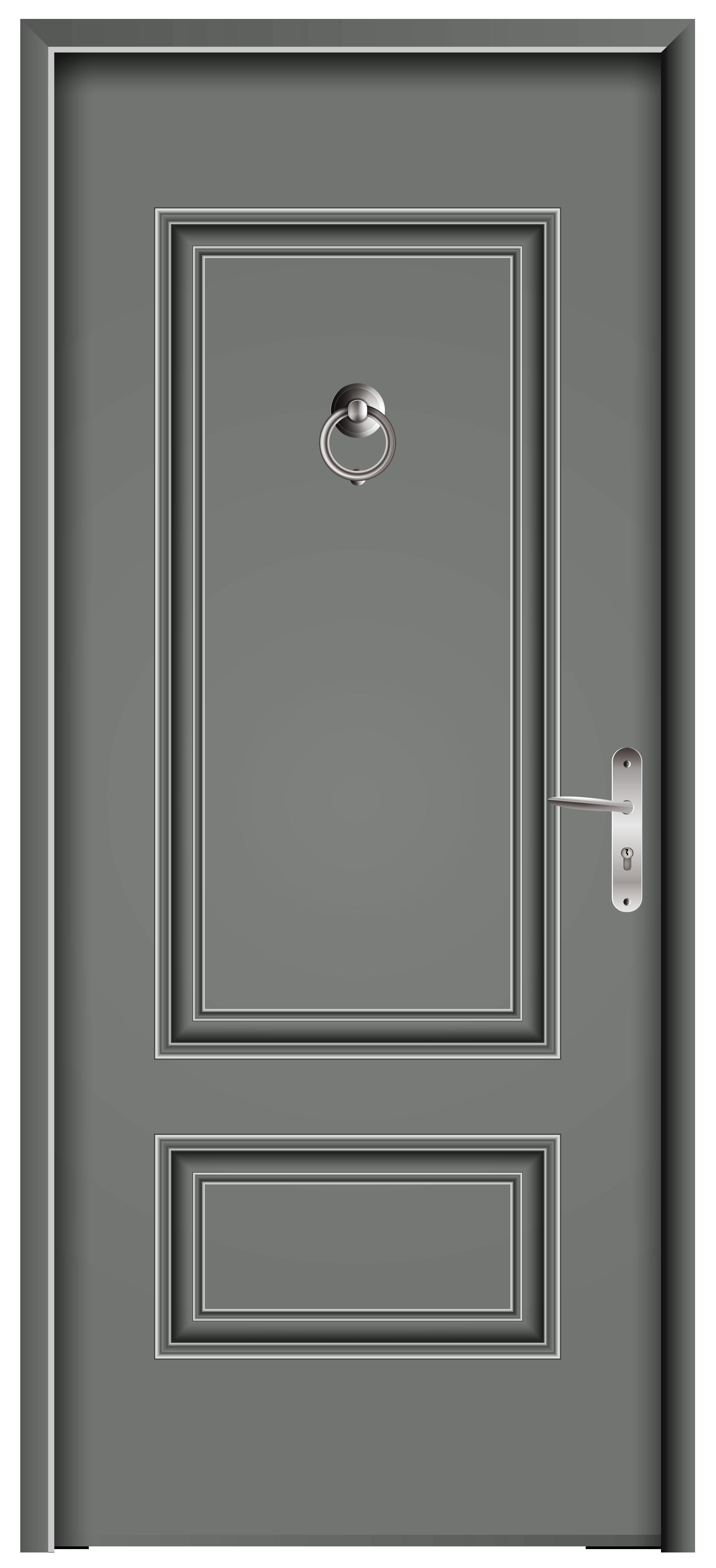 Front Door Grey PNG Clip Art.