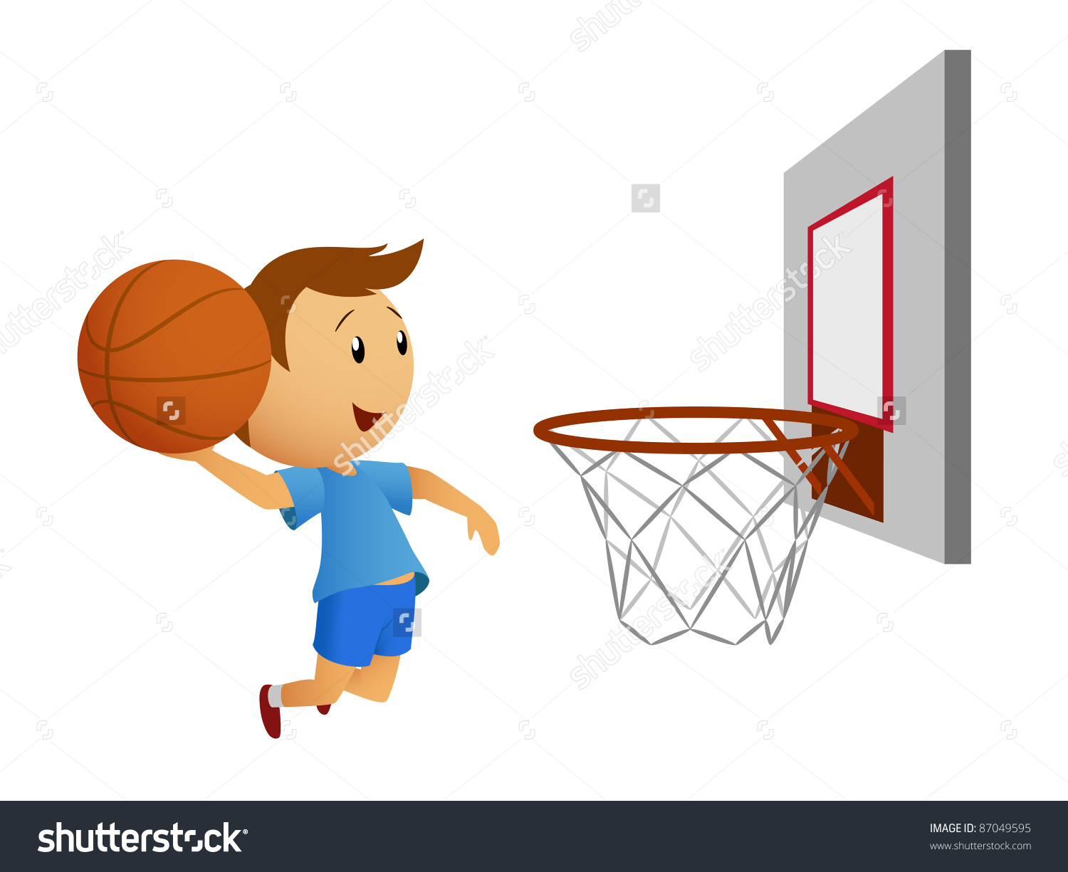 clipart front view of man shooting basketball - Clipground