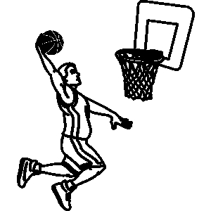 Clipart Of Man Shooting Basketball.