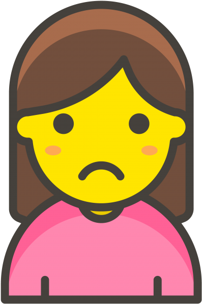 Woman Frowning Emoji.