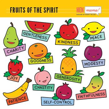 Fruits of the Holy Spirit Clip Art.