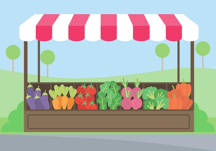 Vegetable Market Clipart.