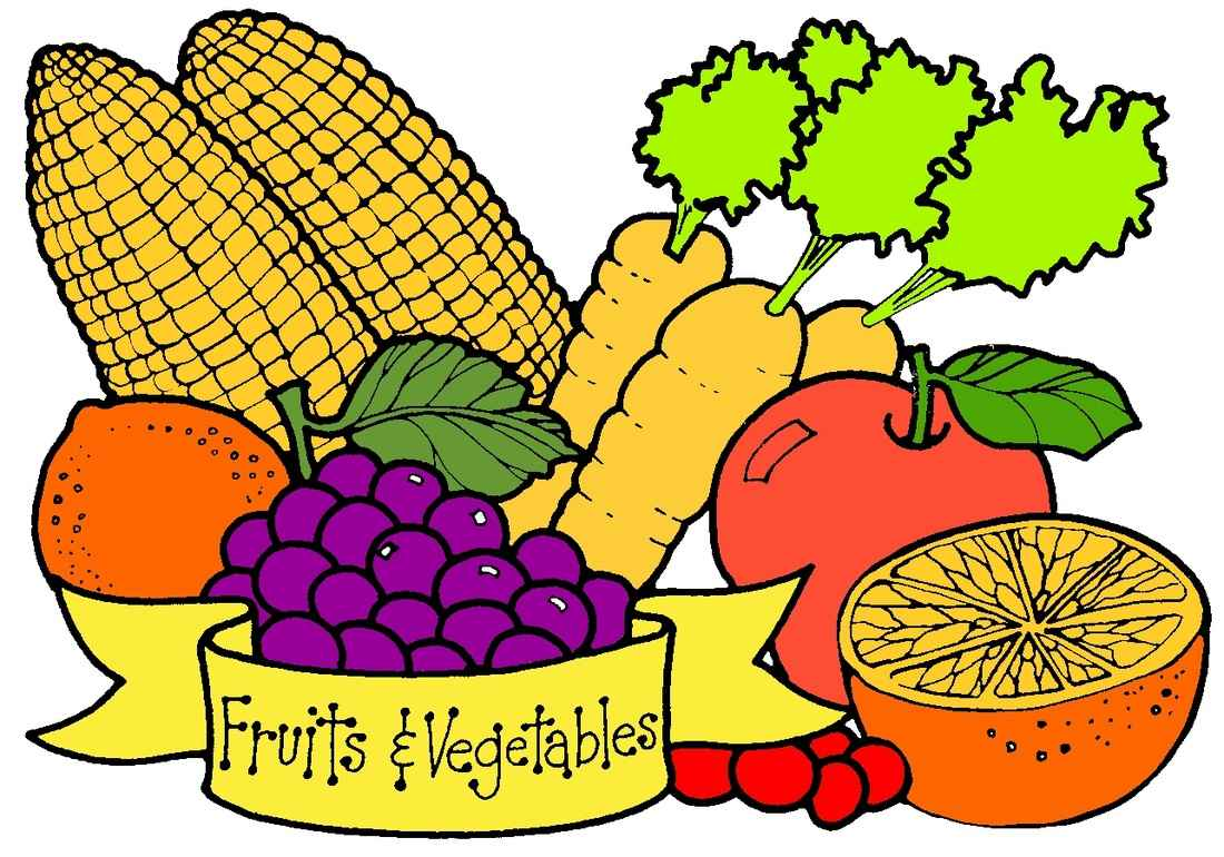 Clipart For Fruits And Vegetables.