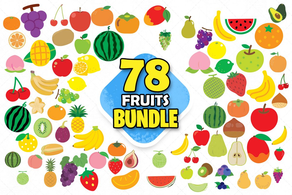 Fruits clipart banana svg fruit stickers png red fruits art.