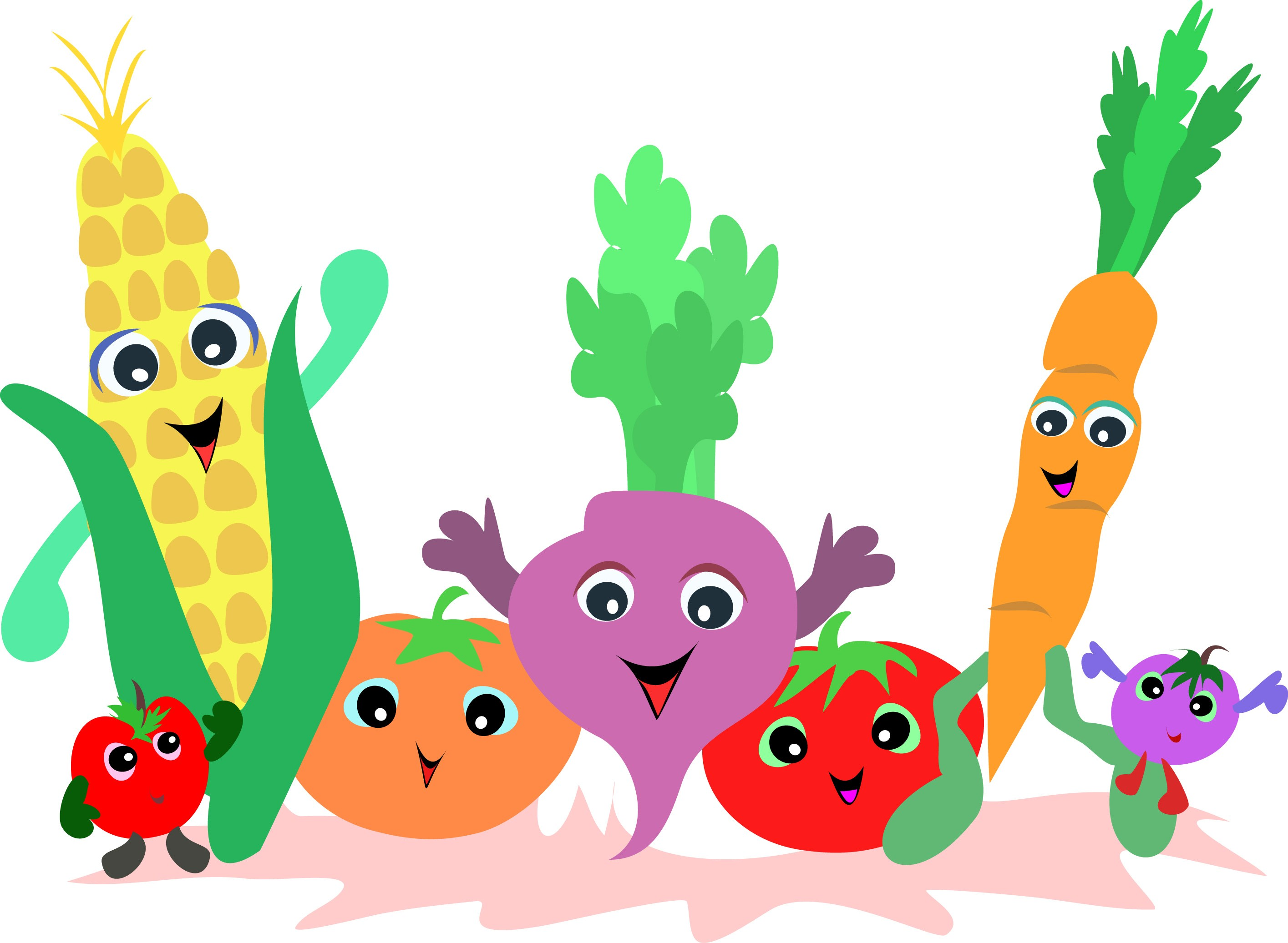 Fruits vegetables clipart 8 » Clipart Portal.