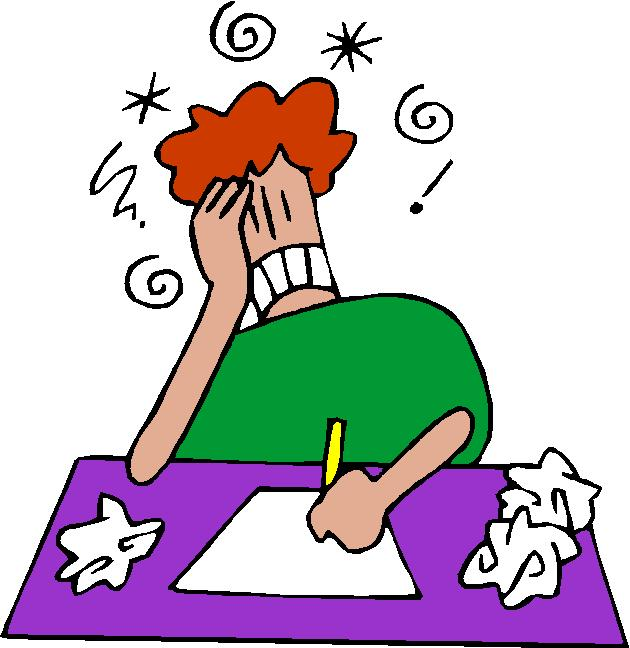 Frustrated Students Clipart.