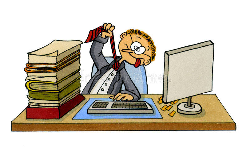 Frustrated Office Worker Stock Illustrations.