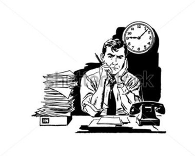 Frustrated Office Worker.