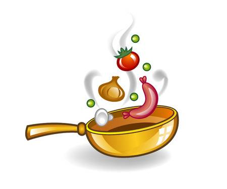 7,728 Frying Pan Stock Vector Illustration And Royalty Free Frying.