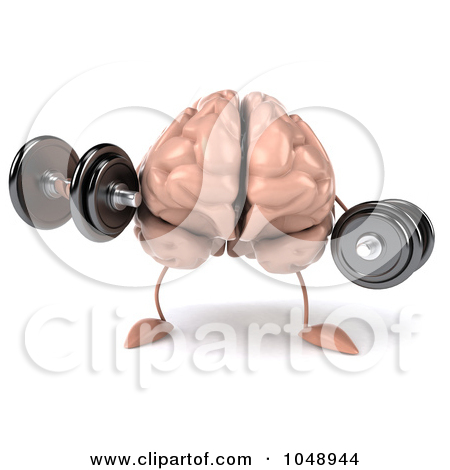 Brain Lifting Weights Clip Art.