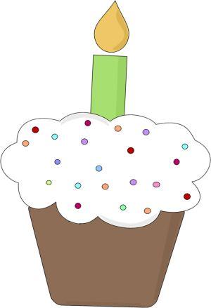 Fun Birthday Cupcake Clip Art.