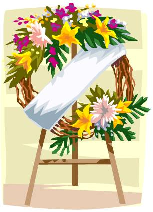 Funeral flowers clipart 1 » Clipart Station.