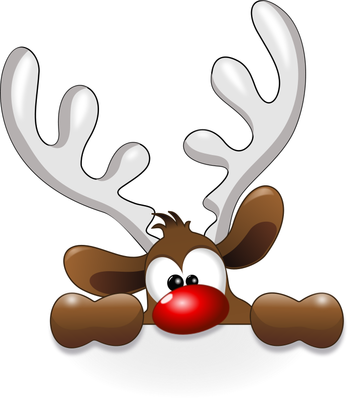 Free Clipart: Funny Reindeer.