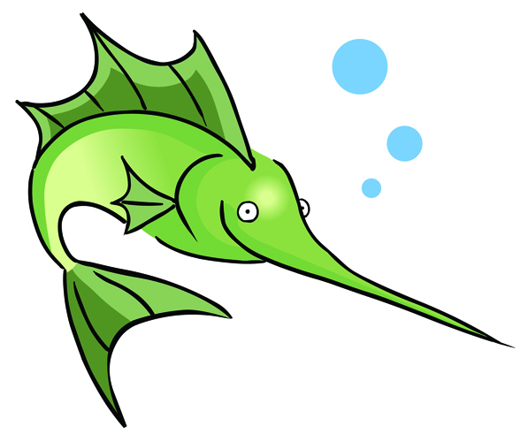 Funny Fishing Clipart.