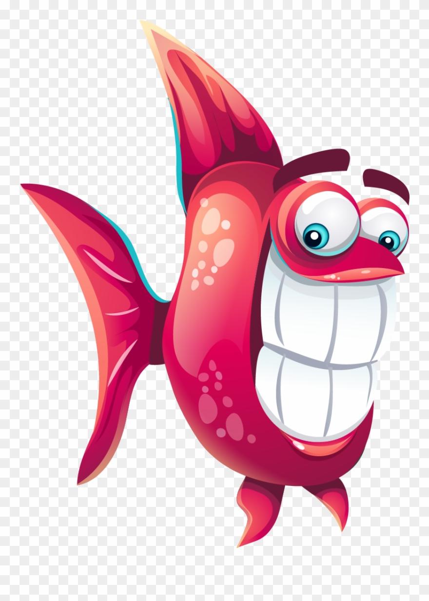 Funny Cartoon Fish.