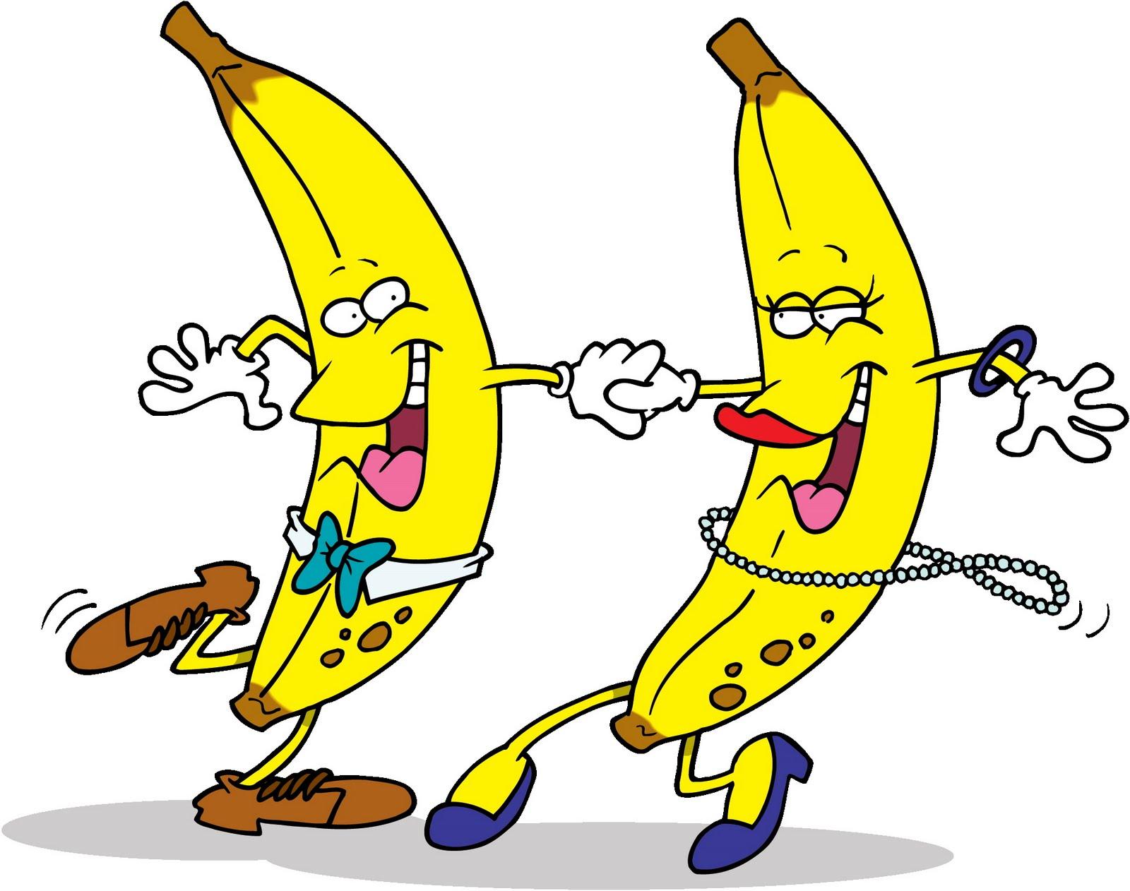Funny Dancing Bananas Clip Art.
