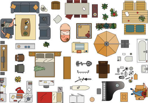 Clipart Furniture Floor Plan Clipground