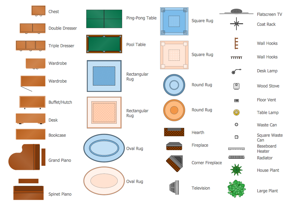Clipart furniture floor plan clipground for Floor plan furniture planner