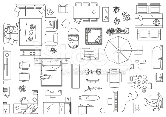 clipart furniture floor plan Clipground