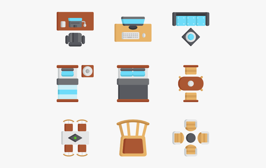 Furniture Top View Png , Transparent Cartoon, Free Cliparts.
