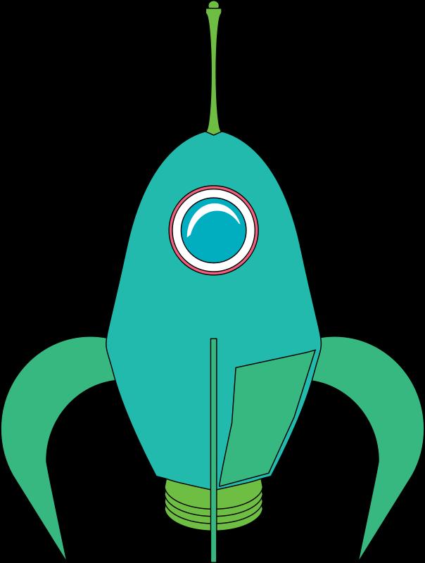 Free Clipart: Futuristic Rocket.