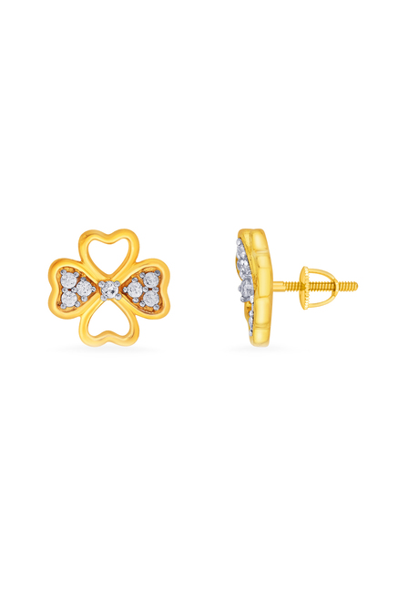 Buy P.N.Gadgil Jewellers 18 kt Gold & Diamond Earrings.