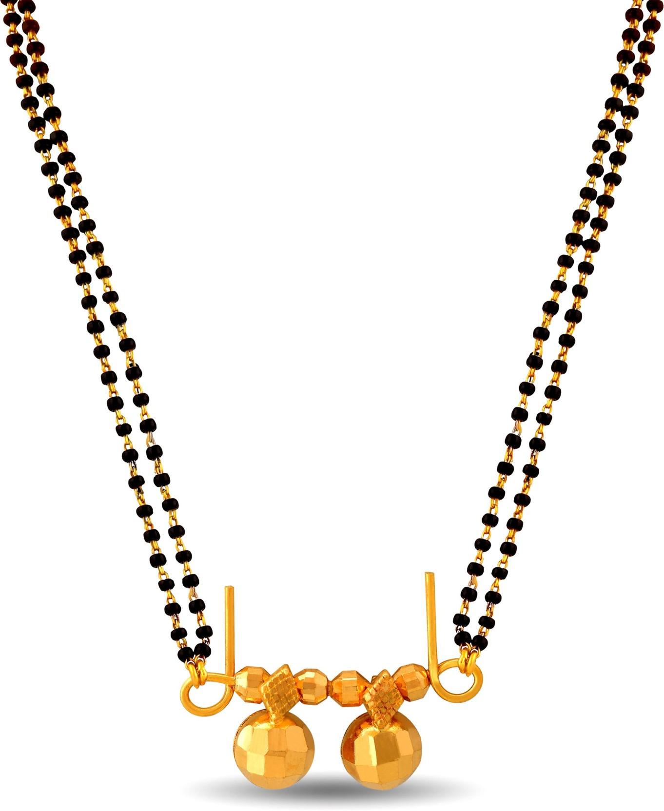 P.N.Gadgil Jewellers Simple Waatimani Tanmaniya 22kt Yellow.