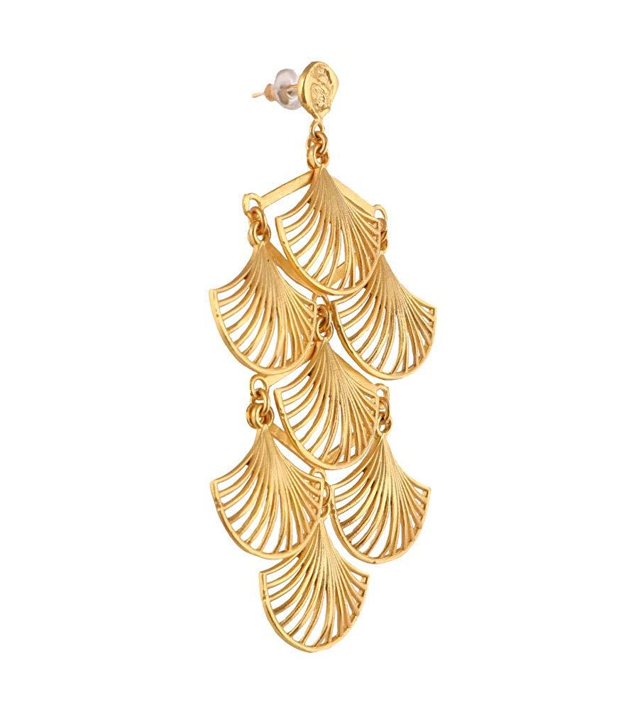 Zariin Gold Dipped Buds Earrings for Women: Amazon.in: Jewellery.