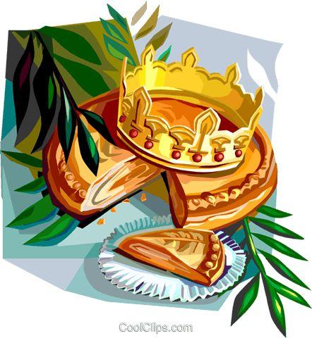 Epiphany gâteau Galette des Rois Vecteurs de stock et clip.