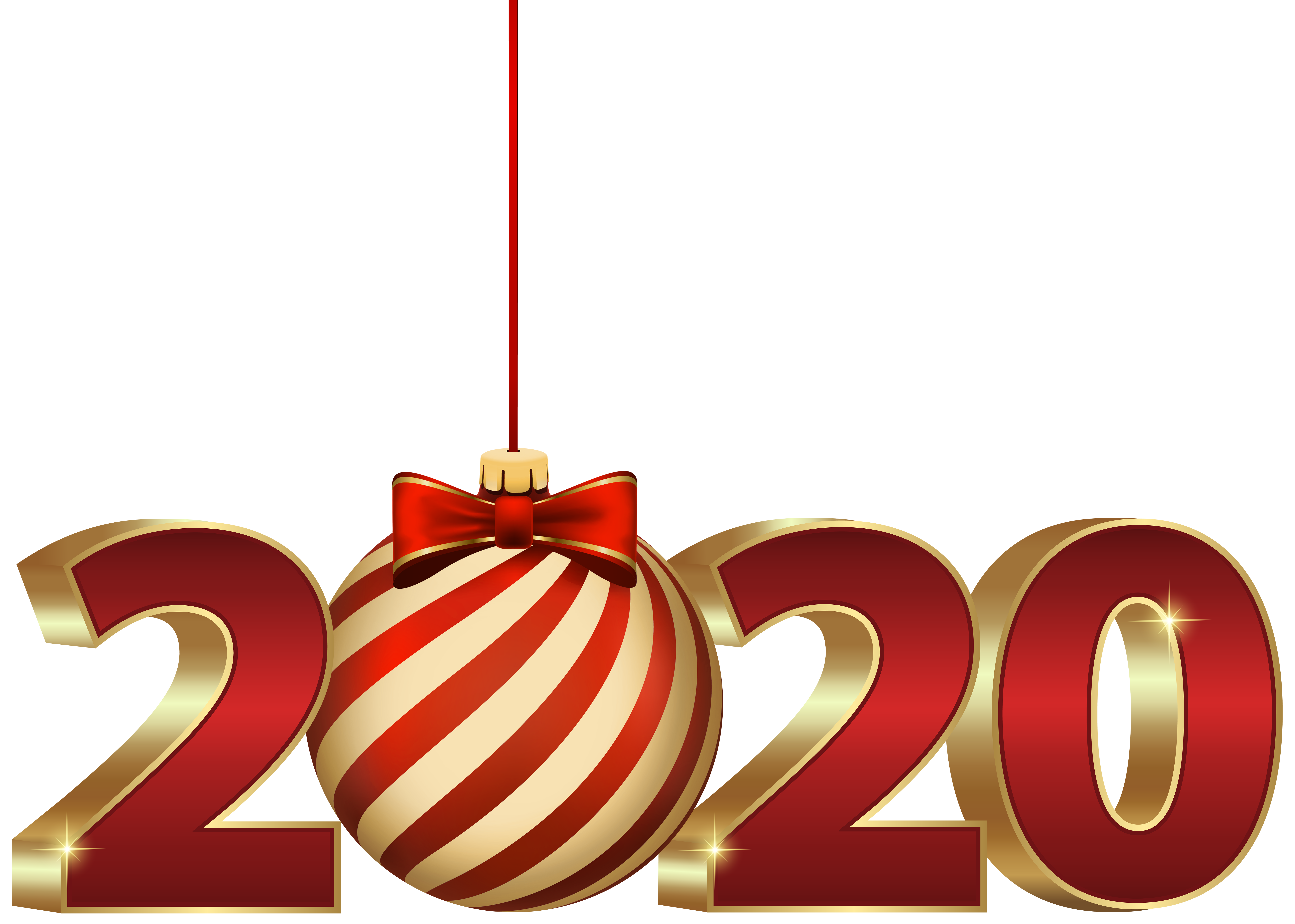 2020 with Christmas Ball PNG Clipart.