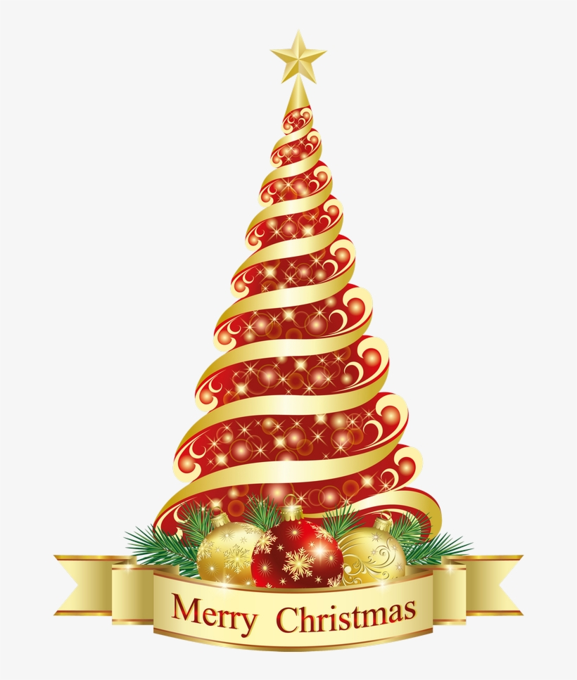 Merry Christmas Red Tree Clipart Gallery Yopriceville.