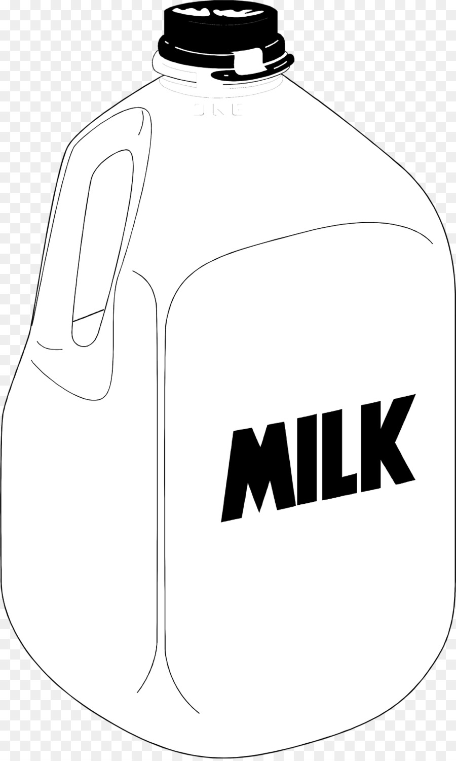 Square milk jug Gallon Chocolate milk Clip art.