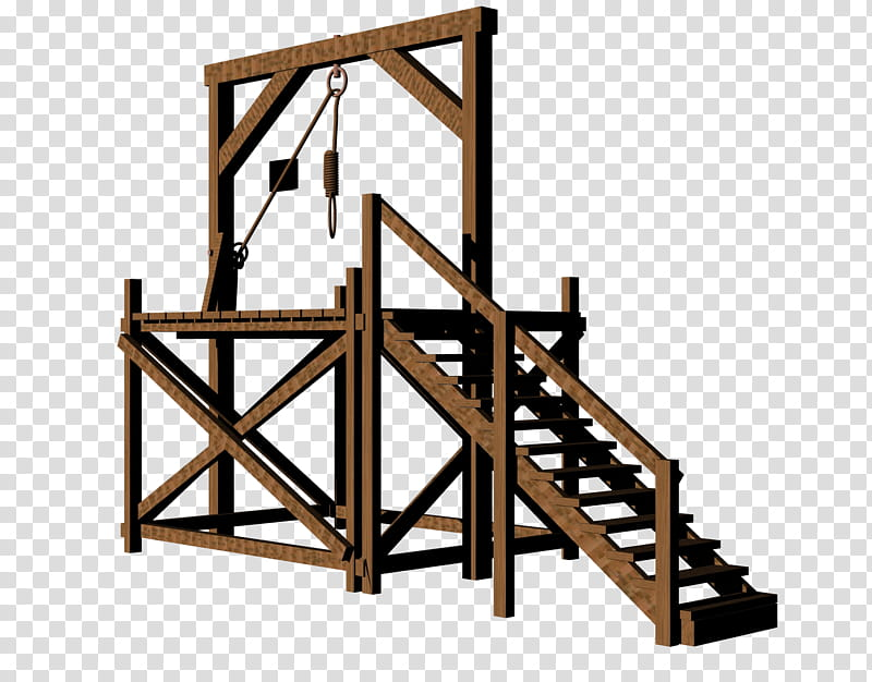 Gallows, brown wooden ade transparent background PNG clipart.