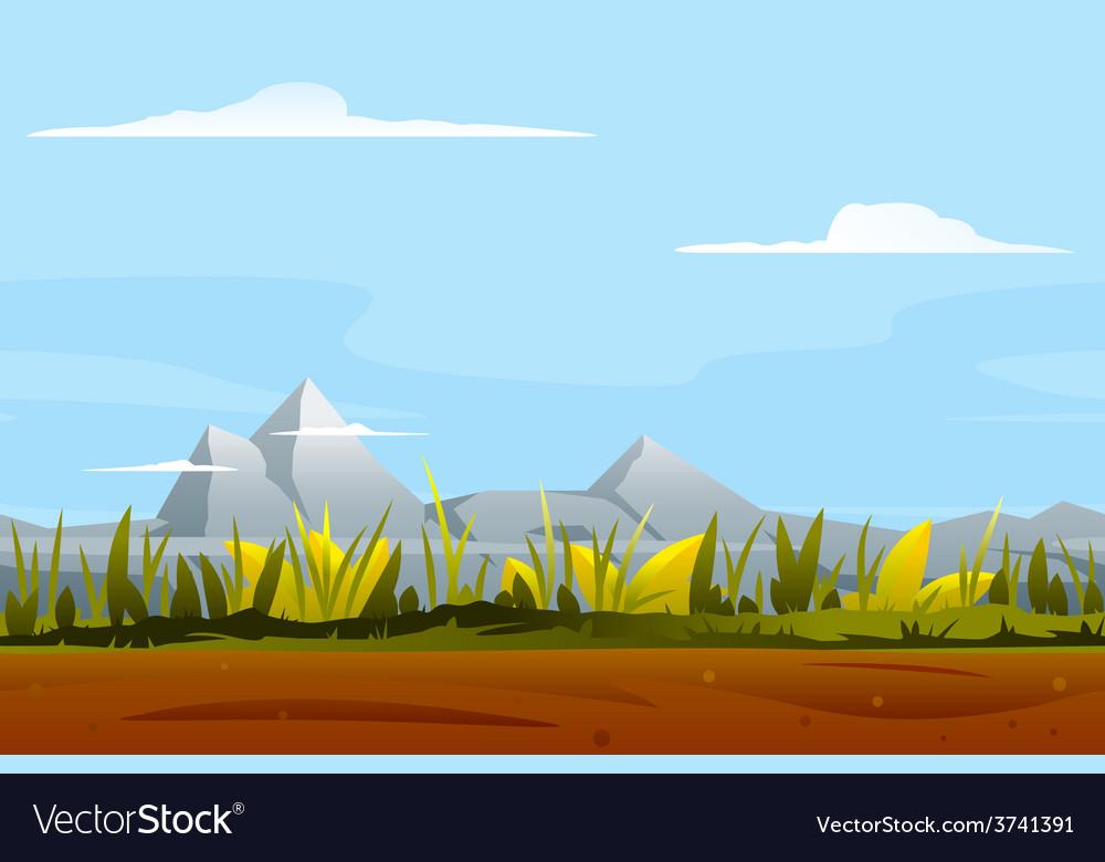 Nature Game Background Landscape.