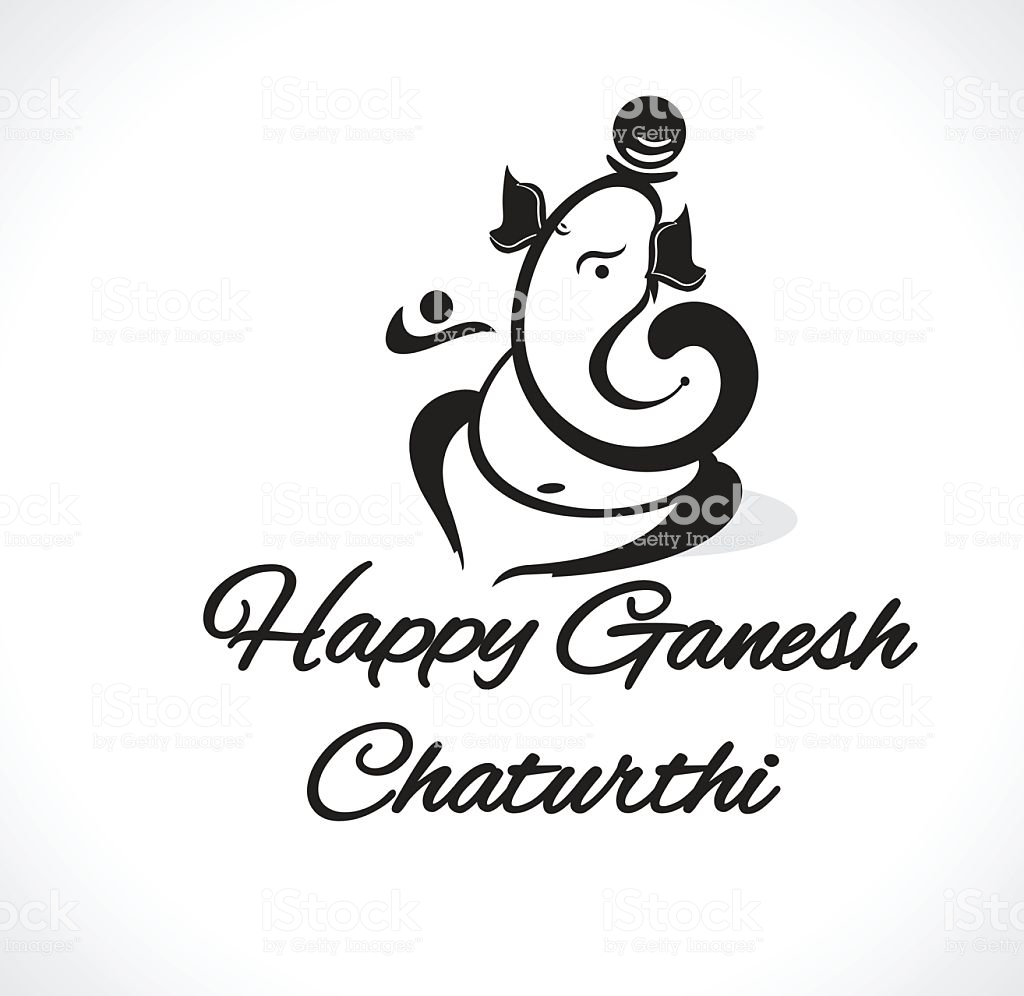 Happy Ganesh Chaturthi Background With Lord Ganesha Clipart Stock.